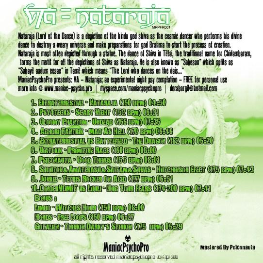 VA Natraja Maniac Psycho Pro Israel Psytrance records