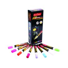 Soni Office Mate - Fluorescent Window Marker, Pack of 10 Pcs 2