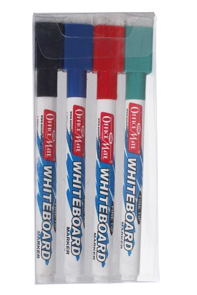 Soni Office Mate - Slim White Board Markers with Duster, Pack of 10 pcs 2