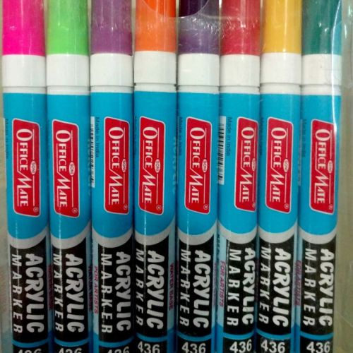Soni Office Mate - Acrylic – Water Base Marker, Pack of 8 Pcs. PP Box 1