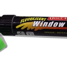 Soni Office Mate - Jumbo Fluorescent Window Marker, Pack of 6 pcs 1