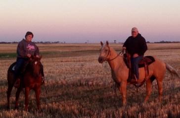 Mark & Soni riding
