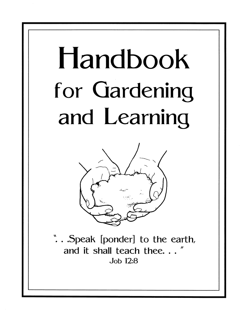 New Release: Handbook for Gardening and Learning