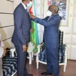 Prime Minister of Djibouti decorates Somali Ambassador with the highest insignia of the Republic
