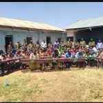 AMISOM donates desks, food and medical supplies to residents of Elwak town in Somalia's Gedo region