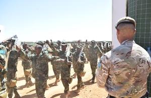 British Army trains 500th Somali soldier in infantry skills