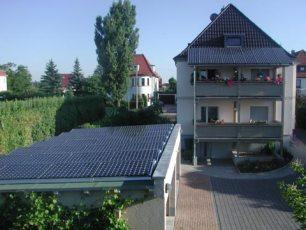Sunpower in Gotha mit Sunposet Flachdachsystem