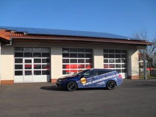 Solaranlage in Thüringen mit Feuerwehrschalter