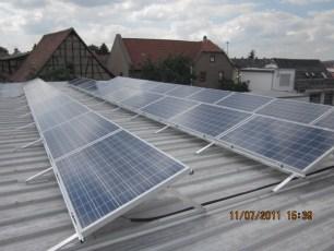 Photovoltaikanlage mit Q Cells in Weimar /Thüringen