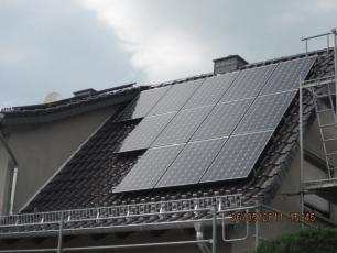Photovoltaikanlage mit LG Modulen in Großbrembach