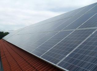 PV Anlage im Rahmen des 1000 Dächerprogrammes Thüringen