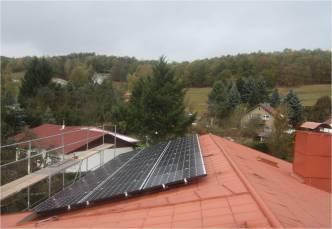Solaranlage mit asola Modulen in Schwarzhausen (LK Gotha)