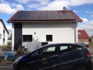 Solaranlage mit Q.Cells Modulen und SMA Wechselrichter in Erfurt