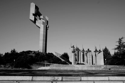 Monument, sozialistisch, Samara Flagge, Stara Zagora, Bulgaria, concrete