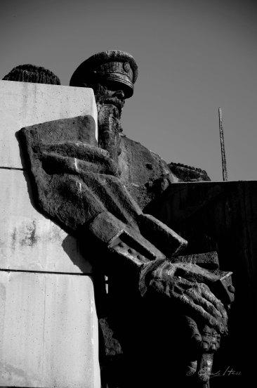 Monument, sozialistisch, soldier, detail, Samara Flagge, Stara Zagora, Bulgaria, concrete