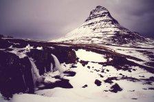 Berg, mountain, Kirkjufellsfoss, Wasserfall, waterfall, time exposure, Island, iceland, winter