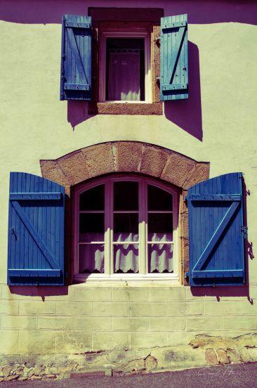 Fensterläden, windows, blau, blue, Frankreich, France