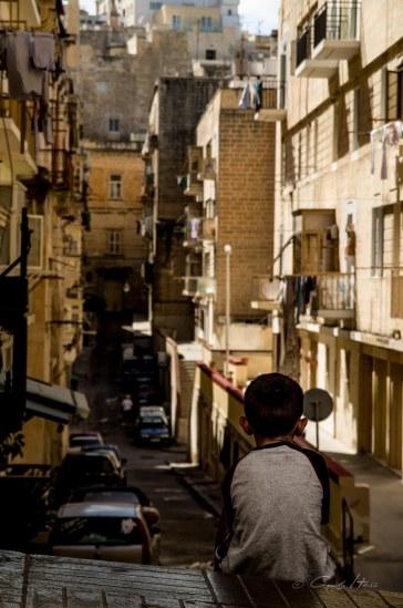 Malta, boy, street, balconies, Straße, Junge