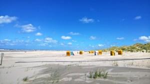 Strandkörbe am Ginsterpad auf Juist