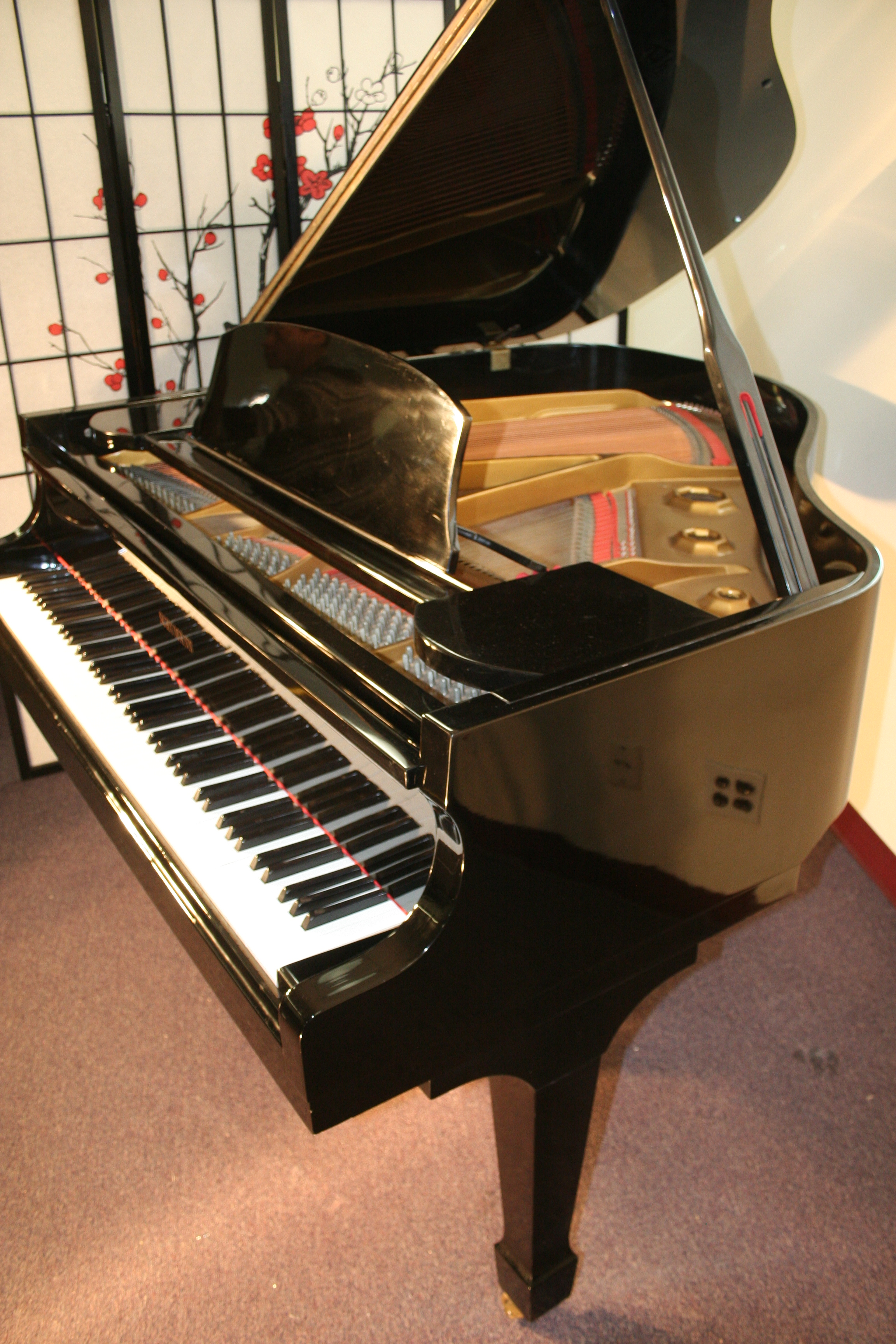 (VIDEO COMING) Ebony Gloss Schumann Baby Grand Piano 1980's Excellent $4500. Thumbnail