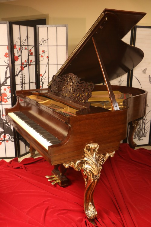 One-of-a-kind Art Case Steinway King Louis XV Model M Legs Hand Painted Gold, Belonged to Sid Caesar $29,500.