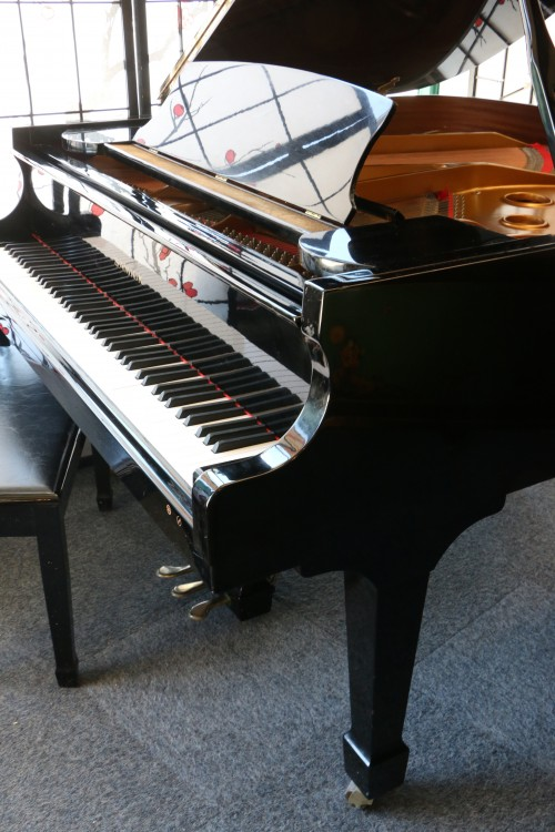 Ebony Gloss Samick Baby Grand Piano signed by Graham Nash used in 1993 Crosby & Nash Hampton's Concert  $3950.