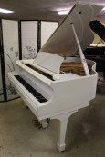 White Gloss Otto Altenburg Baby Grand (VIDEO)  5' 1990 $4500.