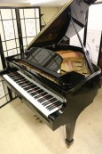 Ebony Gloss Black Baby Grand 5' Hyundai by Samick 1987 Excellent $3950