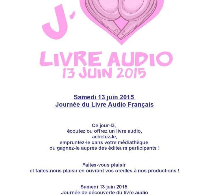 AFFICHE-13 juin – Journée du Livre Audio
