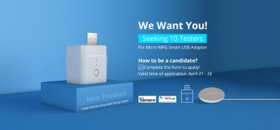 "Tester Recruiting: SONOFF new product ""Micro-MFG Smart USB Adaptor"""