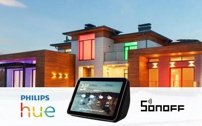 Alexa Routine: How to use SONOFF WiFi door sensor to trigger Philips Hue bulbs?