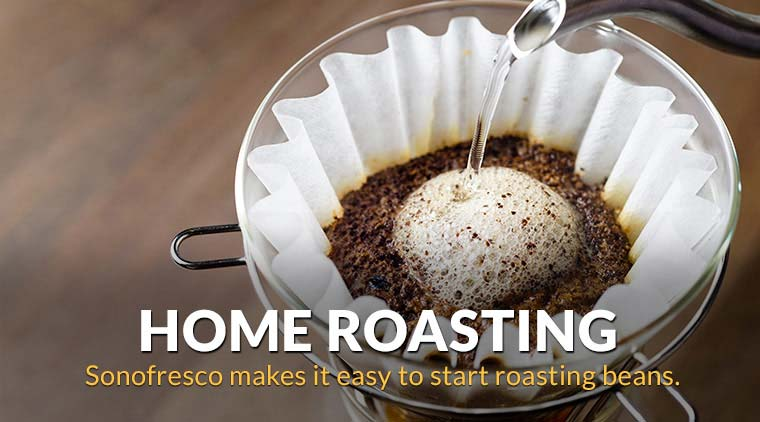 Sonofresco makes it easy to start roasting beans.