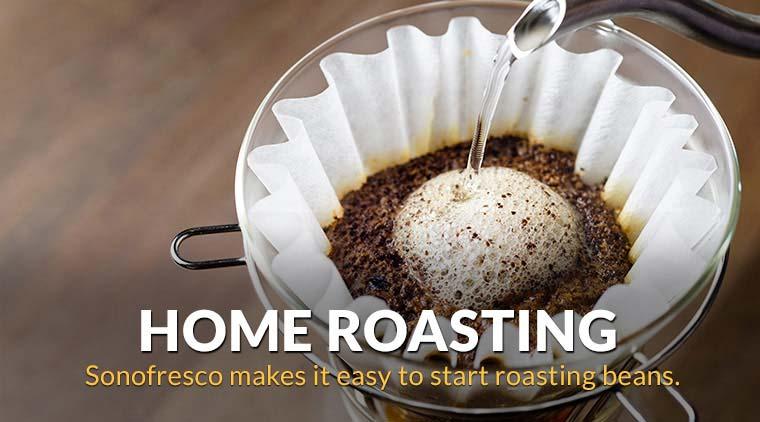 Sonofresco makes it easy to start roasting beans.