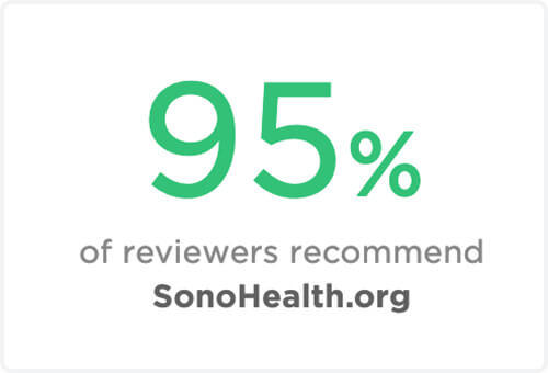 95%-reviewers-recommend-Sonohealth