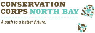 "Conservation Corps North Bay Logo ""A Path to a better future"""