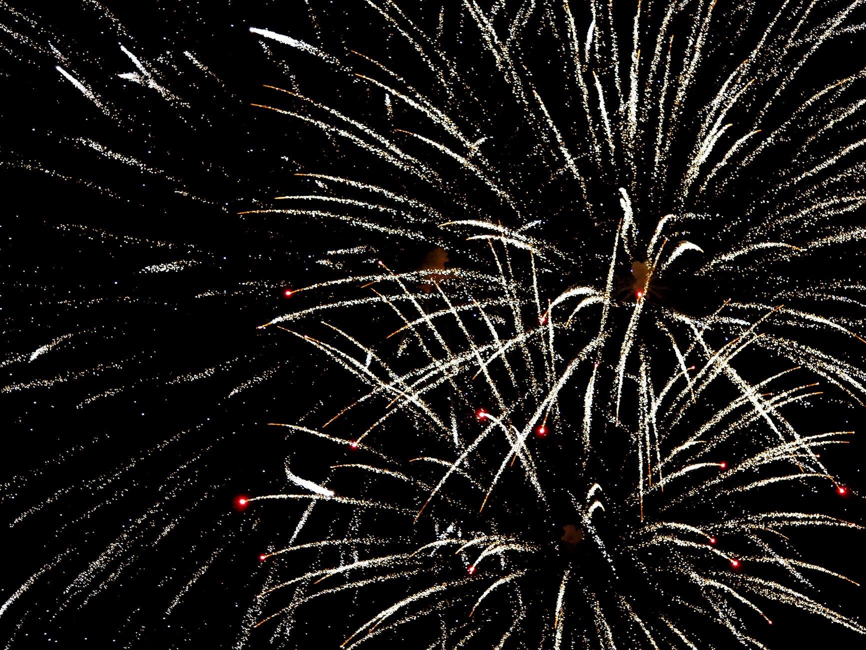 orange and white fireworks display