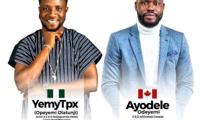 Gospel Singer YemyTpx and Odeyemi Elevates Unity with an anthem, 'O Canada'