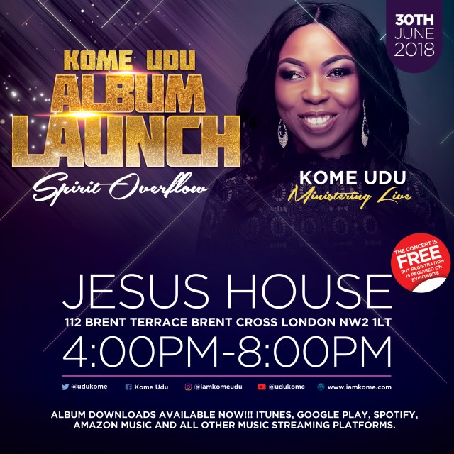 Kome Udu Set to Unveil Debut Album Spirit Overflow