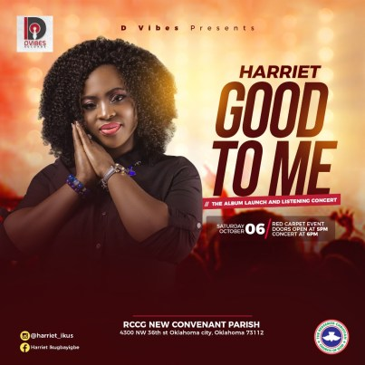 "Harriet To Set To Host ""GOOD TO ME"" Album Launch and Listening Concert"