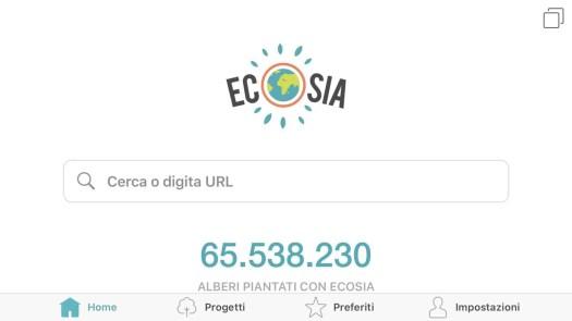 Ecosia, il motore di ricerca ambientalista