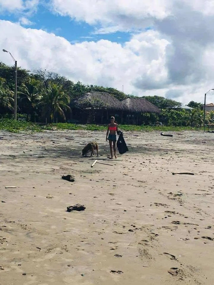 Cleanup in Nicaragua