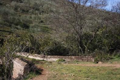 Camino en el puentecillo sobre el regato de Las Viñas
