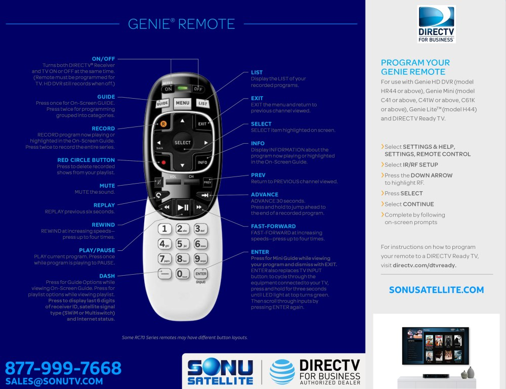 medium resolution of directv rc70h series remote guide
