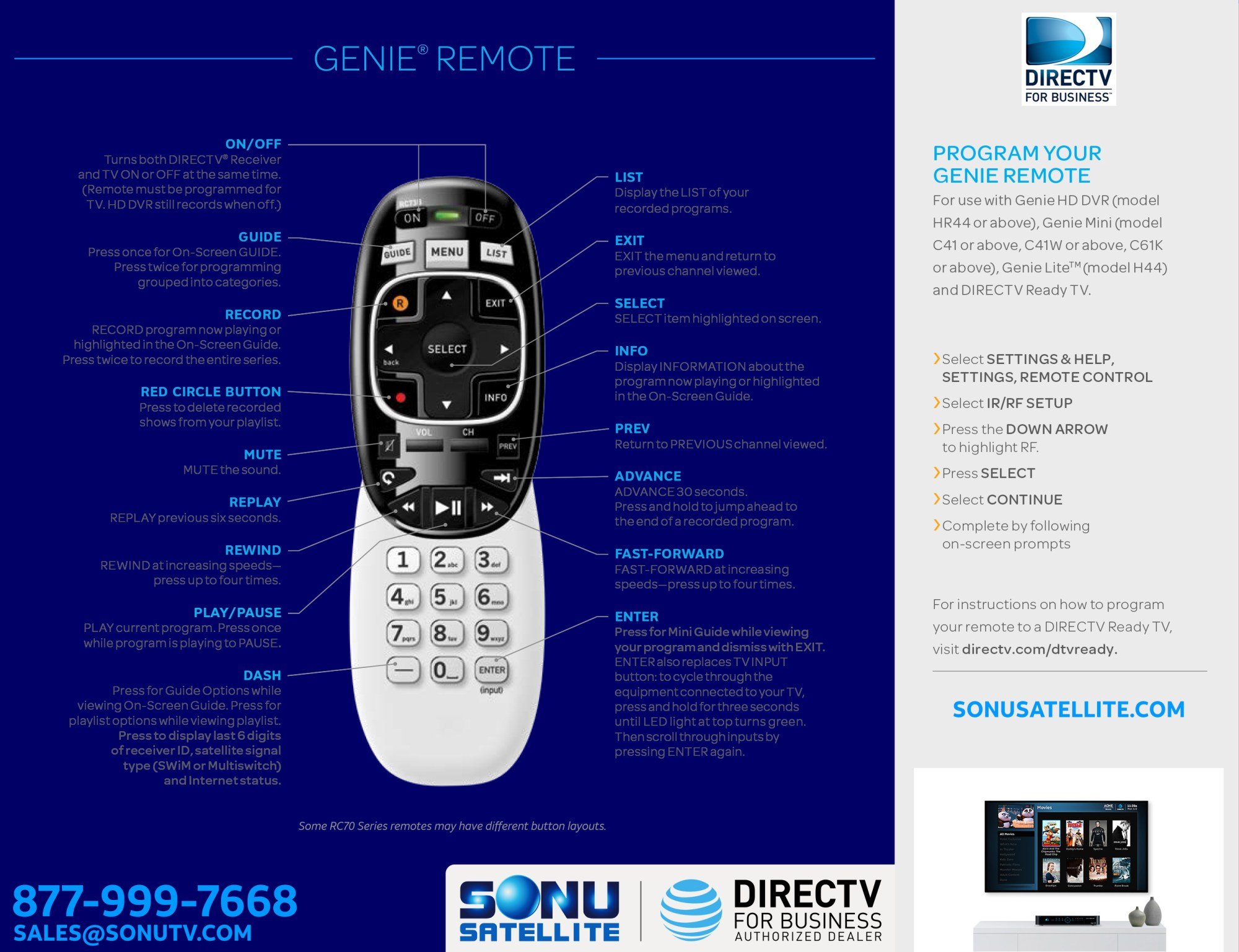 hight resolution of directv rc70h series remote guide
