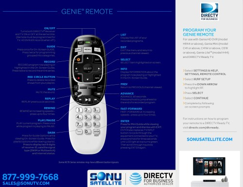 small resolution of directv rc70h series remote guide