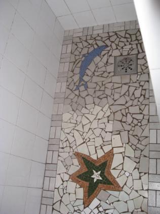 Shower in the hostel in Ihla Grande