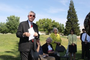 Jim Young at the dedication