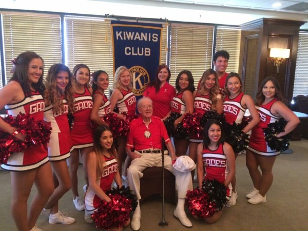 John Boydstun and BC Cheer team Aug 2016