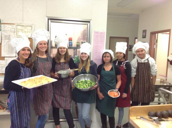Mammoth Lakes students in BC's Culinary Class