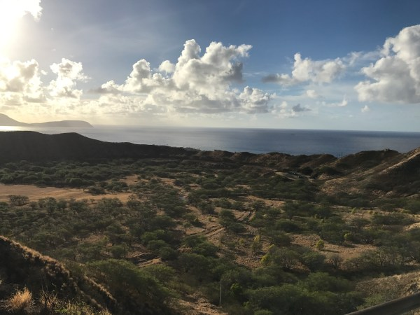 Hiking up Diamond Head July 27 2017
